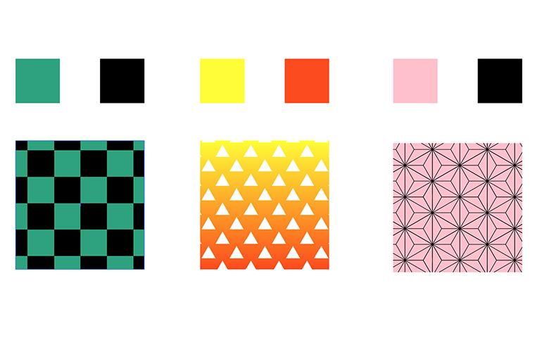 【Illustrator】鬼滅の刃風 服の柄の作り方