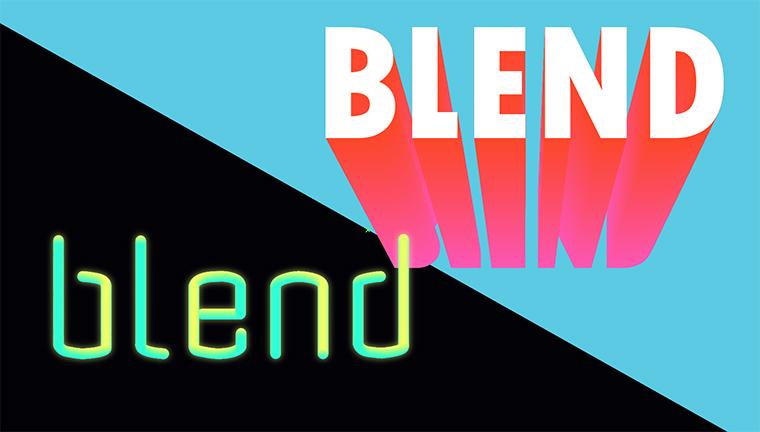 【Illustrator基本操作】ブレンドツールで立体的な文字デザイン